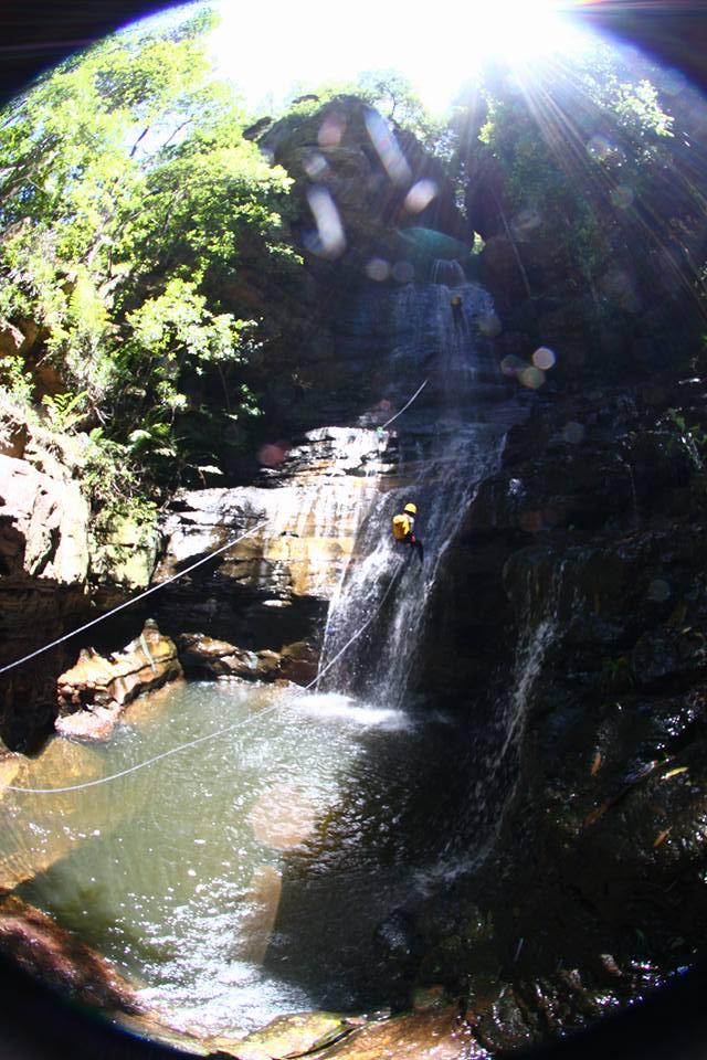 abseil waterfall