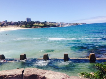The ocean swimming pools at Coogee Beach