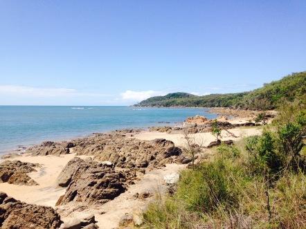 The landing beach
