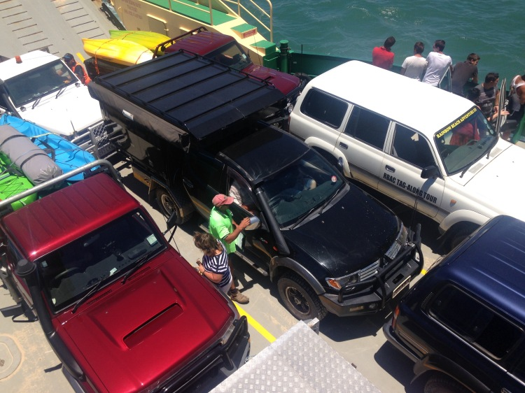 ferry cars