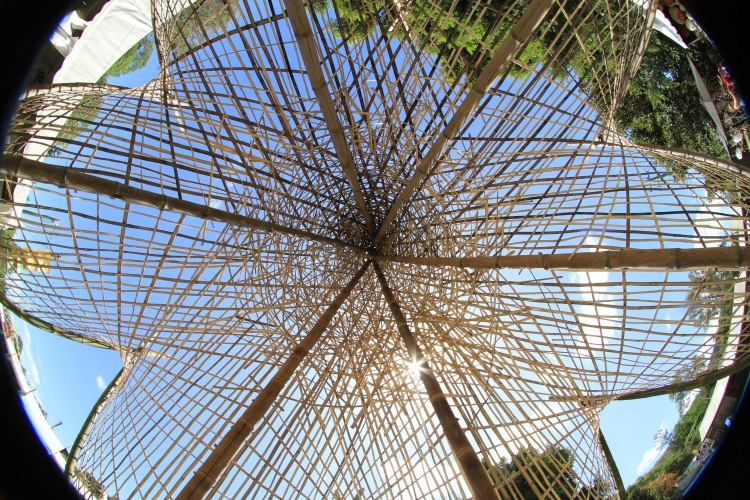 inside straw sculpture