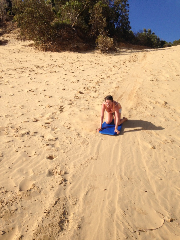 me sandboarding
