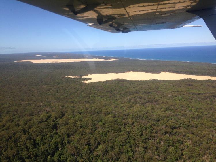 plane view dunes