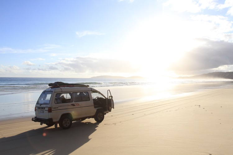 Van on beach s