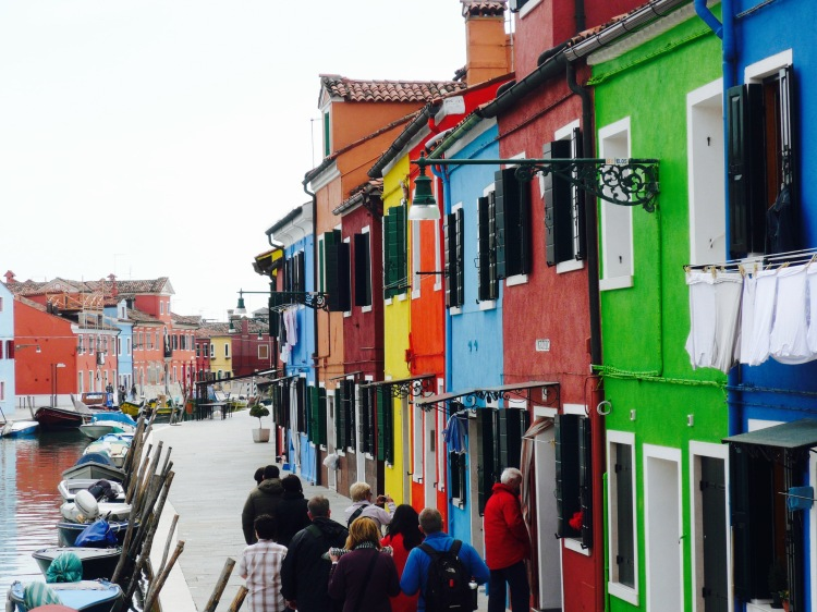 Burano coloured street