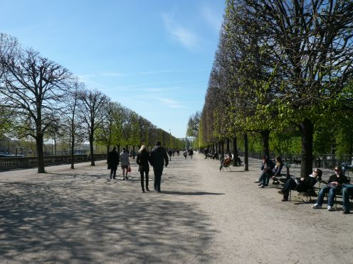 Walking through the Tuileries Garden