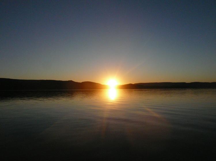lake argyle sunset