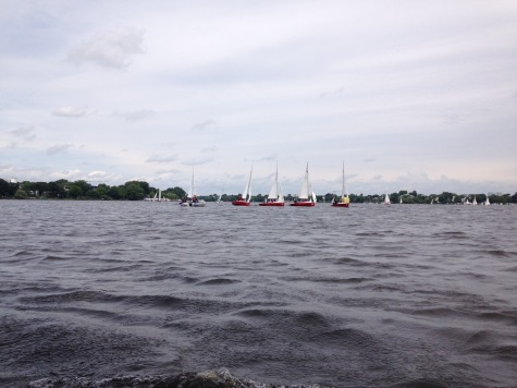 Sailing on the Außenalster