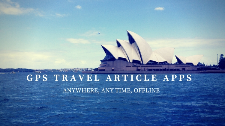 Gps travel article apps