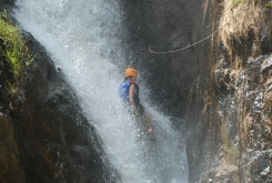 Canyoning down waterfalls in Vietnam