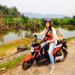 Biking around Laos