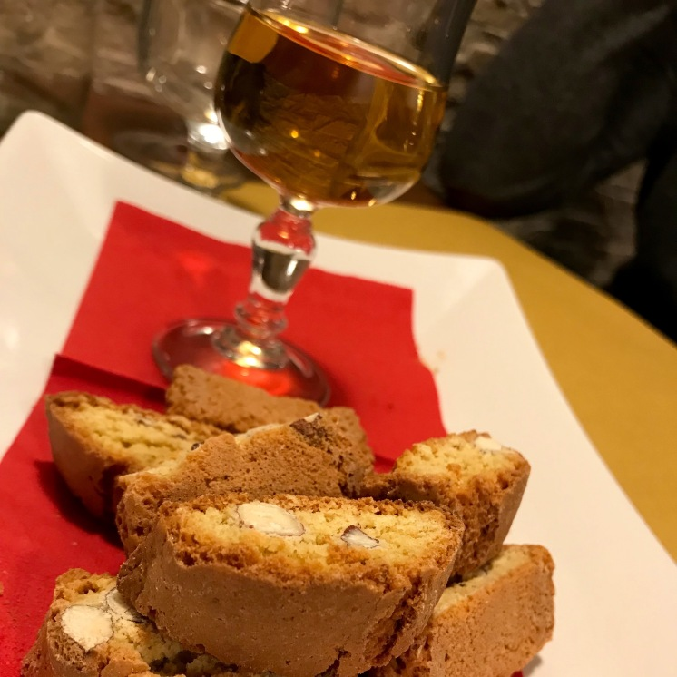Dessert Wine and Biscotti