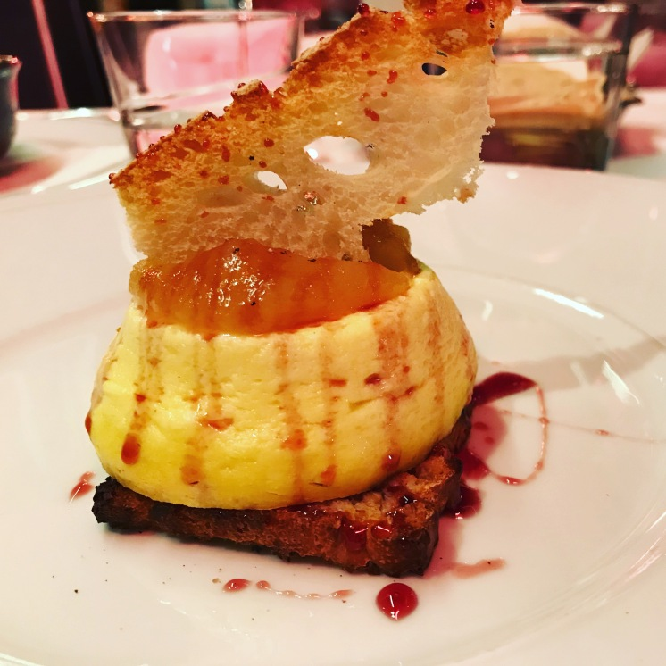 Pecorino tart with pear jam